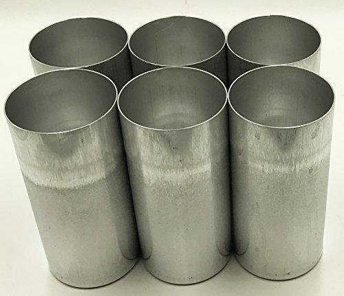 Aluminum Seamless Candle Mold - Candlewic 6pk of 3 x 6. 5