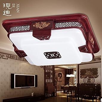 BLYC Neue Chinesischen Stil Lampe Wohnzimmer Rechteckig Holz Schlafzimmer Deckenleuchten LED
