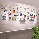 TIANTA- 15 Boxes Children Room Real Wood Frame Wall Simple Modern Photo Wall Stickers Living Room Aisle Restaurant Office Decorated Large Wall Photo Frame Wall adorn ( Color : #1 )