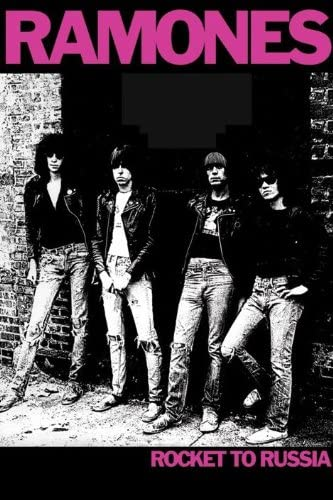 Rock Band Ramones Rocket to Russia Concert Poster