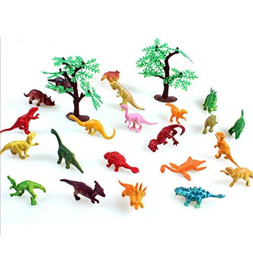 Happy Cherry Dinosaurier Sammlung Kleine Figuren Modell Spielzeug Plastik - 22 Dinosauriern