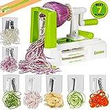 Comezy 7-Blade spiralizer Vegetable Slicer, 10.34.77.5, Green White