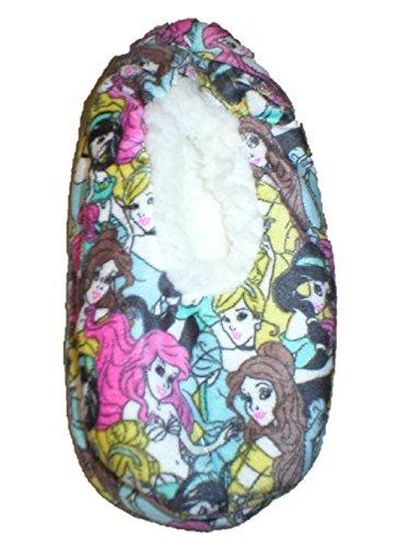 Disney Princess Damer Silkeslen Mocka Fuzzy Babba Bootie Toffel Strumpa Toffel Sockor