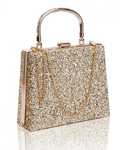 Wedding LeahWard Top Evening Clutch Wedding Cross Purse s Bag Handbag Body Gold Bags Women's Purser rAwzqr5O