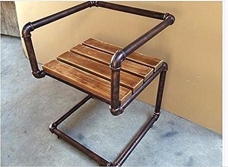 Crysqd sedia ferro battuto vintage bar sedia da pranzo in legno