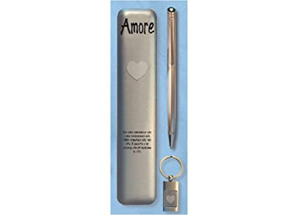 Set estuche bolígrafo con llavero Amor Cartal: Amazon.es ...