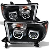 Toyota Tundra Pickup Black *Exclusive* Halo Projector Ultra Bright SMD DRL LED Headlights Lamps