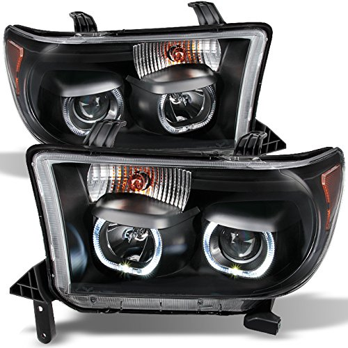 For Toyota Tundra Pickup Black Exclusive Halo Projector Ultra Bright SMD DRL LED Headlights Lamps