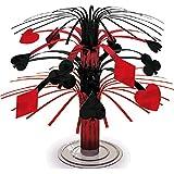 "Casino Mini Foil Cascade Table Centerpiece Party Decoration, 7""."