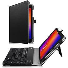 Fintie Asus ZenPad 3S 10 Z500M / ZenPad Z10 ZT500KL Keyboard Case - Slim Fit Folio Stand Cover w/ Detachable Wireless Bluetooth Keyboard for Verizon Asus ZenPad Z10 / 3S 10 9.7-Inch Tablet, Black
