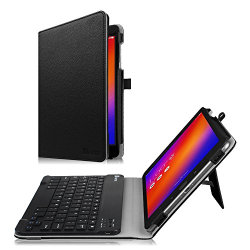 Fintie Asus ZenPad 3S 10 Z500M / ZenPad Z10 ZT500KL Keyboard Case - Slim Fit Folio Stand Cover w/Detachable Wireless Bluetooth Keyboard for Verizon Asus ZenPad Z10 / 3S 10 9.7-inch Tablet, Black