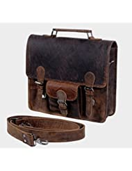 KomalC Leather 13 GPH Inch Real Handmade Leather Briefcase Laptop Messenger Bag Satchel SALE
