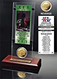 """NFL Pittsburgh Steelers Super Bowl 40 Ticket & Game Coin Collection, 12"""" x 2"""" x 5"""", Black"""