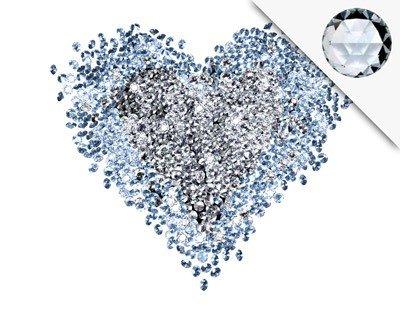 Apalis Wandtattoo No.421 Diamant Herz + 15 Crystallized(TM) Swarovski Steine Set, Größe HxB  136cm x 120cm