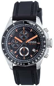 Fossil CH2647 - Reloj para hombres, correa de silicona color negro