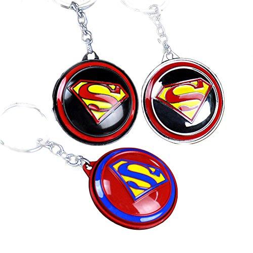 Movie Hot Mini Super Man Avengers Keychain Pendant Prop Cosplay Alloy New Version ()