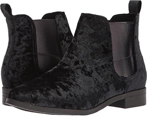 Toms Women's Ella Novelty Textile Bootie, Size: 11 B(M) US, Color: Black Velvet (Boots Toms For Women)