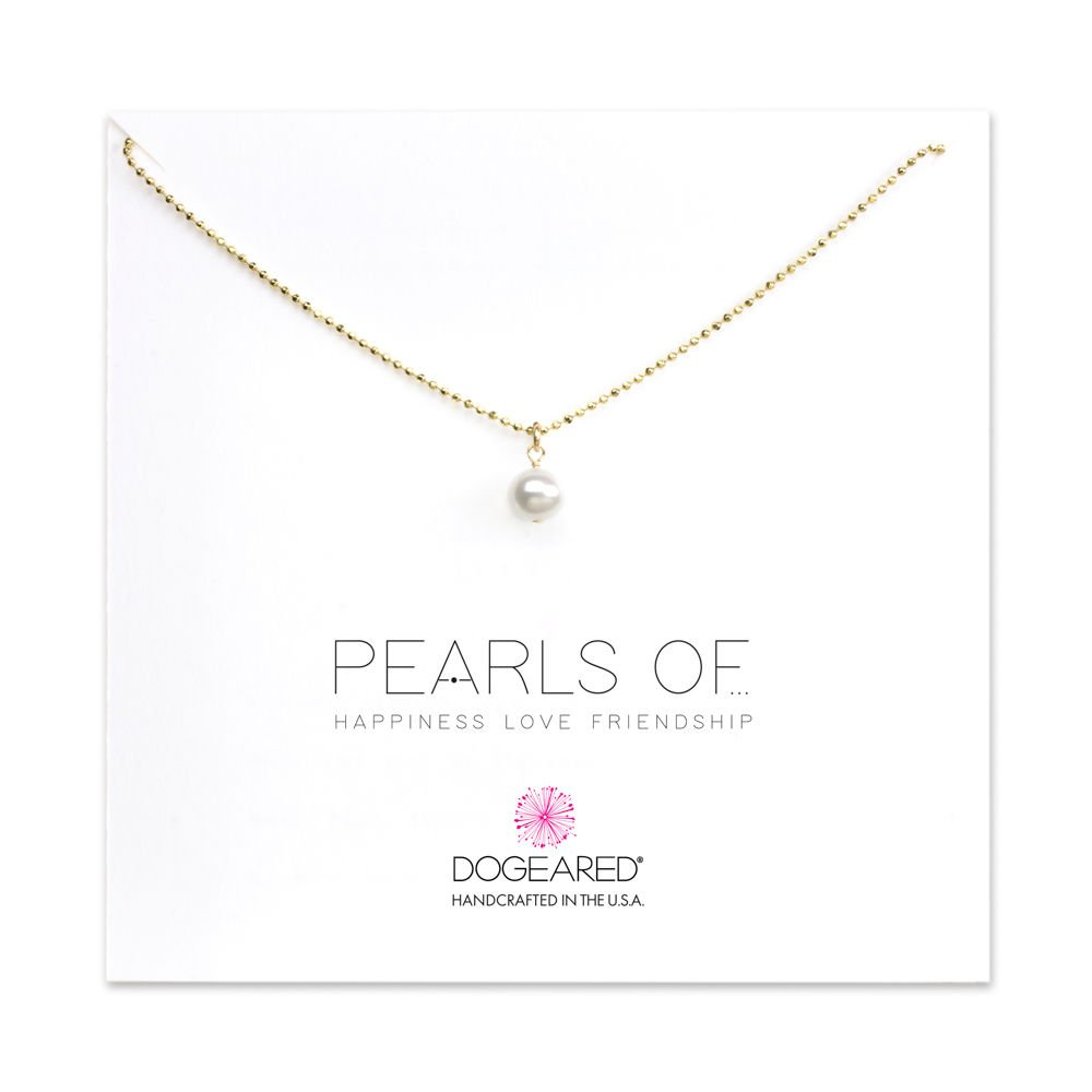 Intelligent White Freshwater Pearl & Rose Gold Plated Chain Pendant Necklace Sets Costume Jewellery