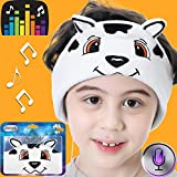 Kids Headphones Headband with Mic-On Over Ear Headphones 85dB Volume Limited Ultra-Thin Speakers Adjustable Wired Headsets for Boys Girls Tablet School Travel Christmas Birthday Gifts (Dalmatian)