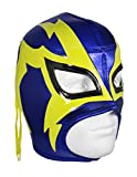 SHOCKER Adult Lucha Libre Wrestling Mask (pro-fit) Costume Wear - Blue/Yellow