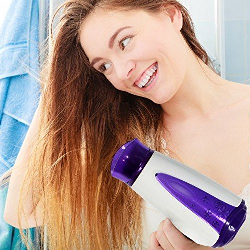 Women's Foldable Hair Dryer With Free Green Hair Brush