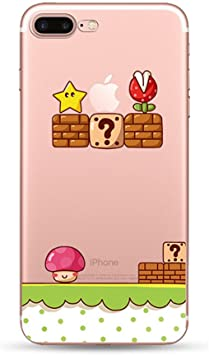 Freessom Coque iphone 7 8 Silicone Transparent Motif Dinosaure Animaux Simple Chic Apple Dessin Drole Mignon Kawaii Fine Design Original Fantaisie ...