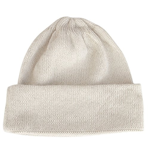 The Alpaca Collection, 100% Alpaca Wool Cap Beanie Hat Off-White One Size