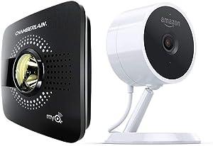 myQ Smart Garage Door Opener (Chamberlain MYQ-G0301) + Amazon Cloud Cam | Key Smart Garage Kit (Key In-Garage Delivery Eligible)