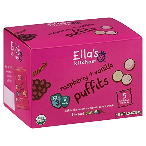 Ella's Kitchen 2 Puffits - Raspberry & Vanilla - 1.06 oz