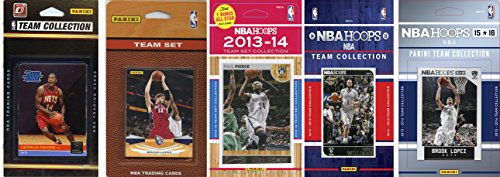 5 New Jersey Nets - NBA New Jersey Nets 5 Different Licensed Team Set Trading Card