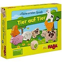 Haba 4680 Tier auf Tier - Juego educativo de apilar con animales (en alemán)
