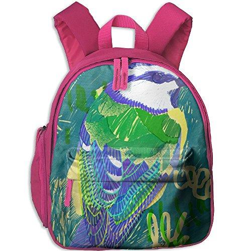 Bluetit Hot Sale Child Shoulder School Bag School Backpack Satchel For Teens Boys Girls Students Pink