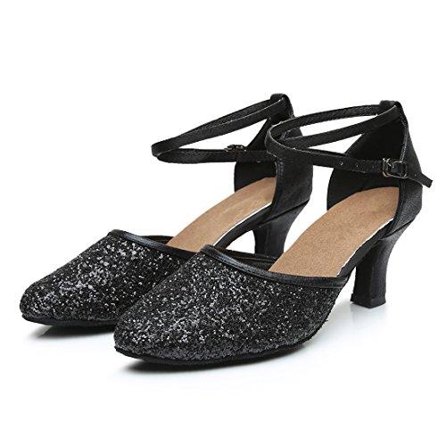 Danse pour Femme Noir Talons de Hauts VASHCAMER Chaussures Sandales YxUqEzwzZ