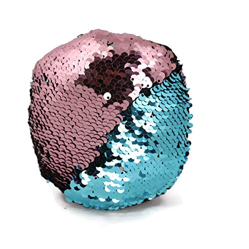 Little Monkey The Original Fidget - Pink & Aqua Circle Sequin Pillow Fidget Toy for Sensory Therapy to Relieve Stress and Increase Focus for Adults and Kids. Helps with ADHD ADD Autism 10C