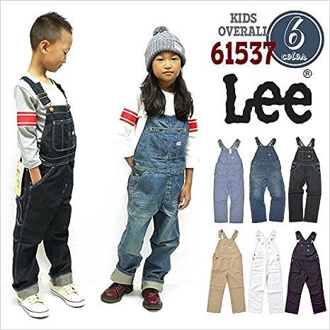 (リー)Lee キッズ オーバーオール 61537 デニム つなぎ ジーンズ パンツ ズボン 長ズボン サロペット 子供 男の子 女の子 ズボン ジュニア 小学生 ジーパン (130cm, 375.BLACK)
