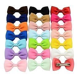 ULKEME 20Pcs Hair Bows Band Boutique Alligator Clip Grosgrain Ribbon For Girl Baby Kids by ULKEME