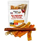 WyldLife Pets American Bully Sticks & Beef Tendon Combo [6-Pack] – Gourmet Grass Fed Dog Treats Grain Free – Training & Puppy Dental Chews w/Zero Chemicals, Hormones or Preservatives