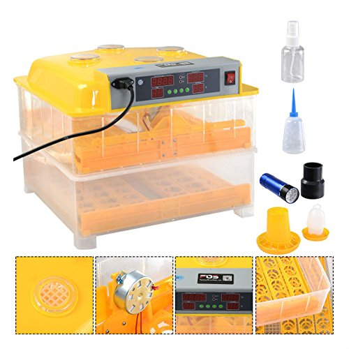 96 Digital Egg Incubator Hatcher Temperature Control Automatic Turning Chicken - 7