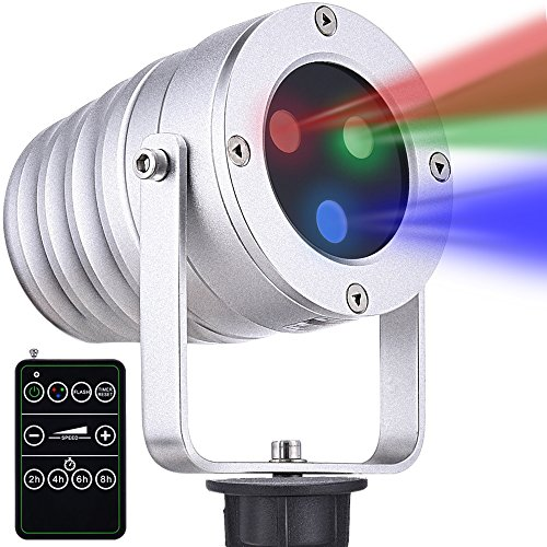 Ominilight Christmas Laser Light Red/Green/Blue Light, Aluminum Alloy Star Laser Show, RF Wireless Remote, Holiday Outdoor Projector Waterproof For Sale