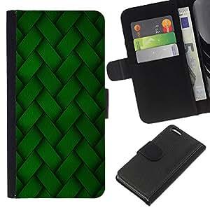 Planetar® Modelo colorido cuero carpeta tirón caso cubierta piel Holster Funda protección Para Apple iPhone 5C ( Diseño de bordado verde Wallpaper aleatoria )