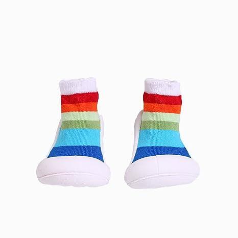 Yulan bebé niños calcetines de algodón Calcetines de interior antideslizante cálido calcetines Zapatillas zapatos botas suelo