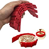 LAOZHOU 4 Pack Nonstick Silicone Cake Mold Cake Pan Magic Bake Snake DIY Baking Mould Tools (Red 4pcs)