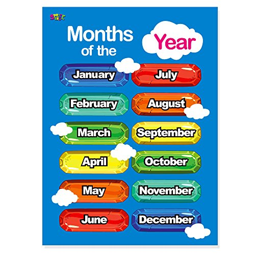 delicate days of the week months of the year 2 laminated