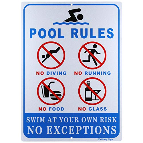 Pool Rules Sign Reflective Signs 10 X 14 Inch Rust Free 40 Mil Aluminum Sign