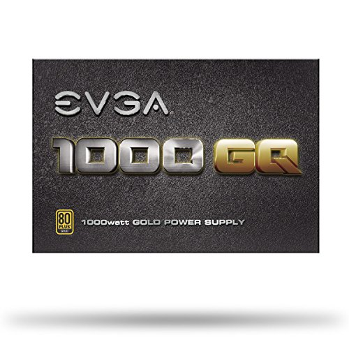 EVGA 1000 GQ, 80+ GOLD 1000W, Semi Modular, EVGA ECO Mode, 5 Year Warranty, Power Supply 210-GQ-1000-V1