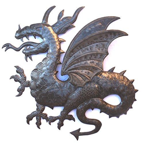 Dragon Large Poster (3D Dragon Sculpture, Metal Artwork, Recycle Haiti Sculpture, 22