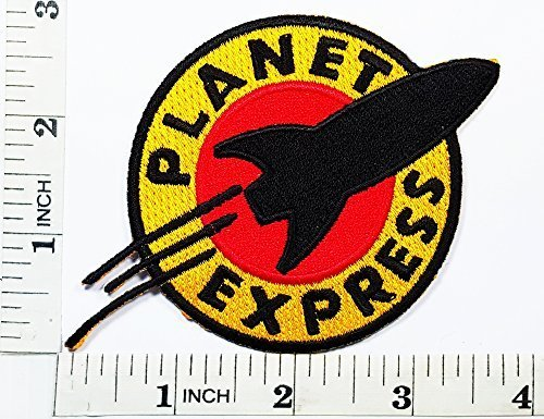 [Futurama Planet Express Iron Sew on Embroidered Patch Badge Costume Fancy Logo Patch SEW on / Iron on] (Express Costume)