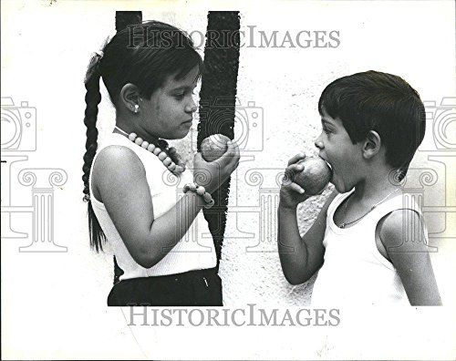 1987 Press Photo Anette Martinez Brother Angel Orchards - - Martinez Brothers