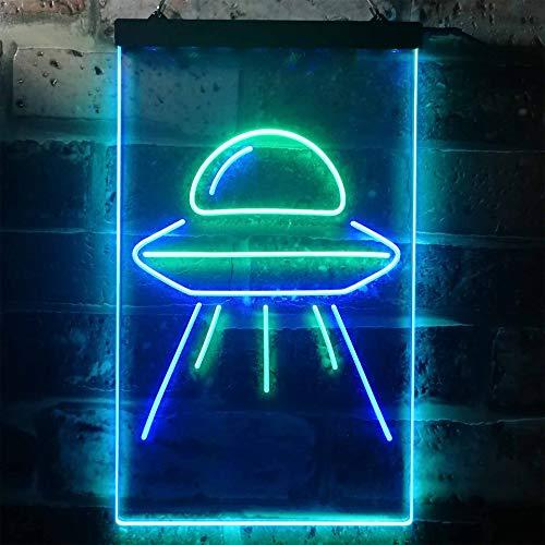 Au Decorative Heat Lamps - ADVPRO Alien Spaceship UFO Dual Color LED Neon Sign Green & Blue 12 x 16 st6s34-i3287-gb