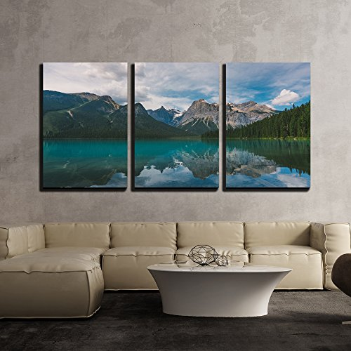 Natural Mountain Lake x3 Panels